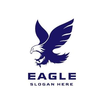Logo creativo dell'aquila