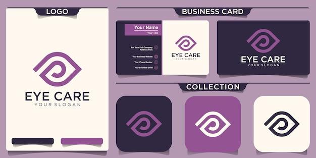 Modello di progettazione del logo del concetto di occhio creativo