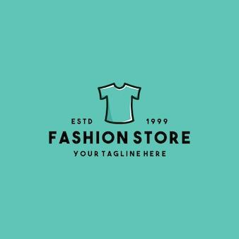 Design del logo del negozio di abbigliamento di moda creativa