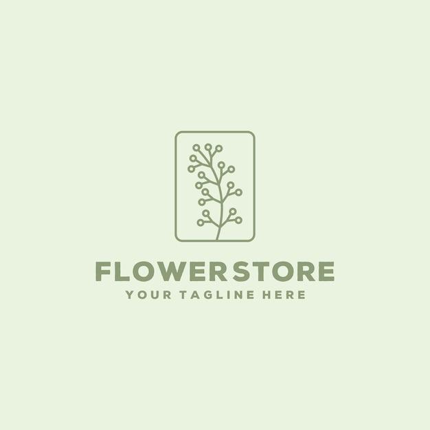 Modello di progettazione di logo del negozio di fiori creativo