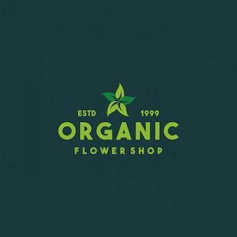 Design del logo del negozio di fiori creativo