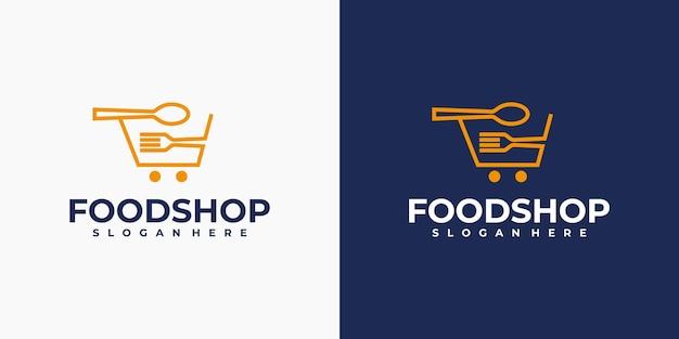Logo del negozio di alimentari creativo minimo