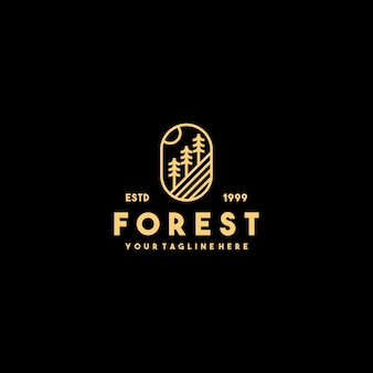 Design del logo del profilo della foresta creativa