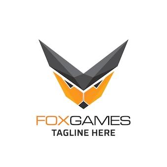 Design creativo del logo della testa di volpe.