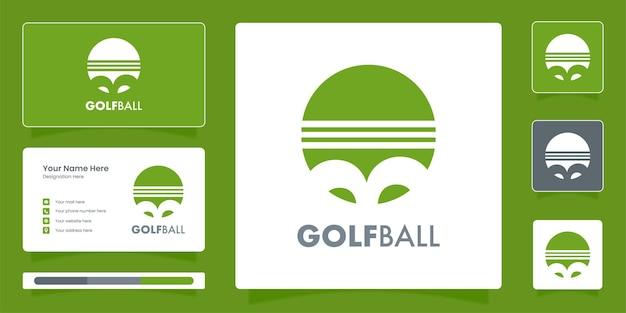 Modello di logo creativo con pallina da golf logo golf sport con disegno vettoriale di identità di marca