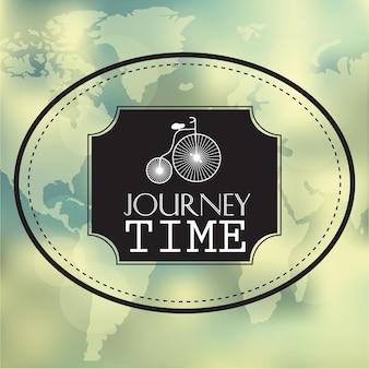 Messaggio grafico creativo per il tuo design estivo - sfondo sfocato vettoriale - tempo di viaggio