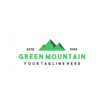 Design creativo logo montagna verde