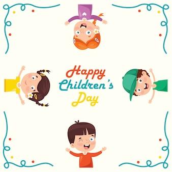 Cartolina d'auguri creativa per bambini divertenti