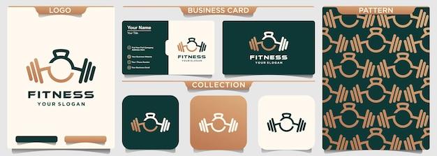 Modello di progettazione logo fitness palestra creativa.