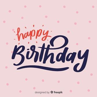 Sfondo di scritte creative di buon compleanno Vettore Premium