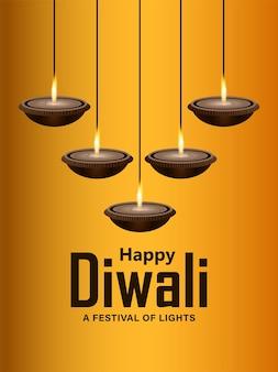 Fondo felice creativo di celebrazione di dhanteras