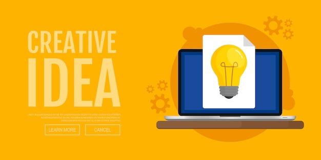 Concetto di idea creativa. illustrazione per creatività, immaginazione, innovazione. illustrazione design piatto.