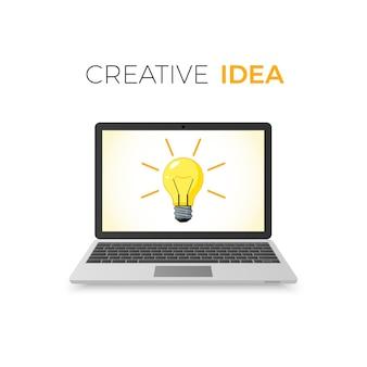 Concetto di idea creativa