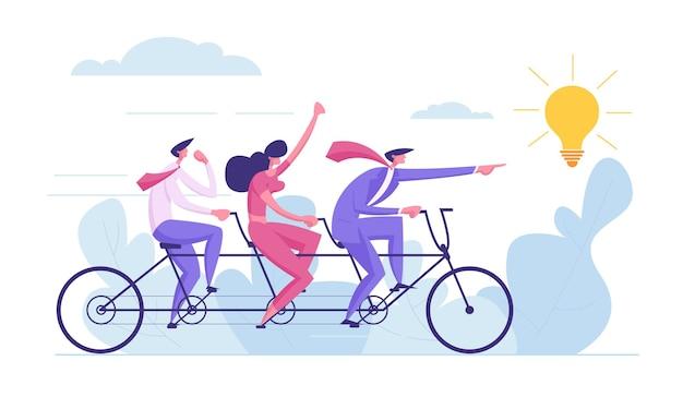 Illustrazione di concetto di lavoro di squadra di idea creativa