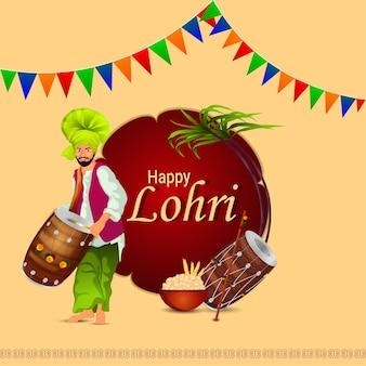 Illustrazione creativa per la celebrazione felice di lohri