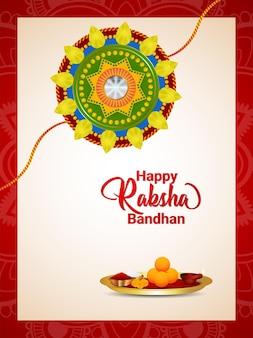 Illustrazione creativa di felice sfondo raksha bandhan
