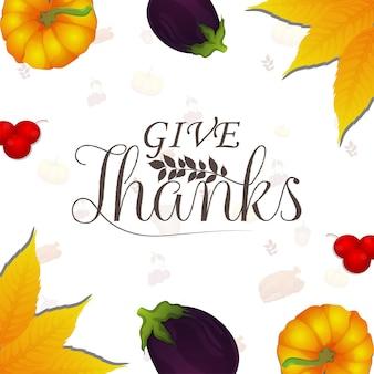 Illustrazione creativa dello sfondo del giorno del ringraziamento felice