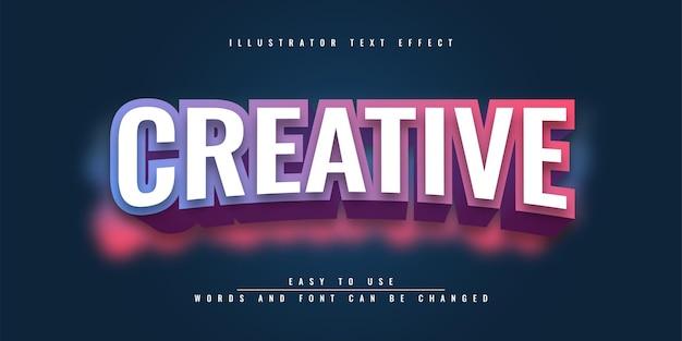 Design del modello di effetto di testo modificabile di illustrator creativo