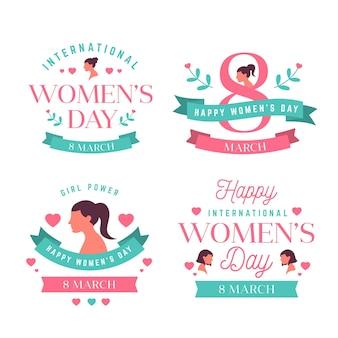 Etichette creative della giornata internazionale della donna