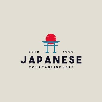 Creativo giapponese torii gate logo design