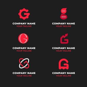 Modelli di logo lettera g creativa