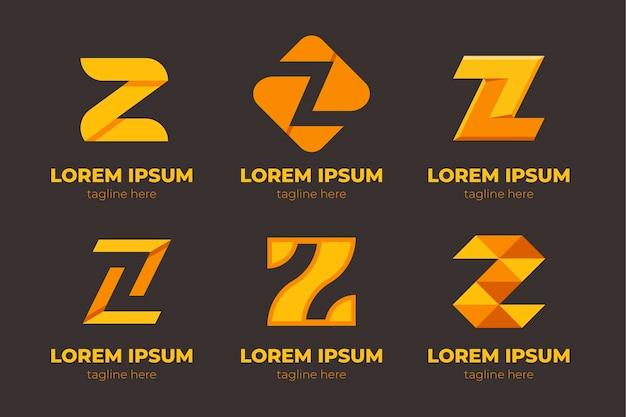 Modelli di logo lettera z creativa