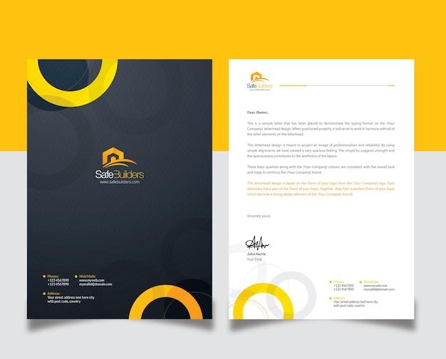 Design creativo della carta intestata