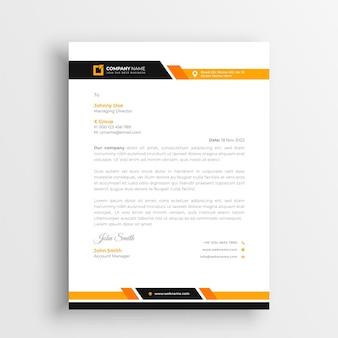 Design creativo del modello di carta intestata Vettore Premium