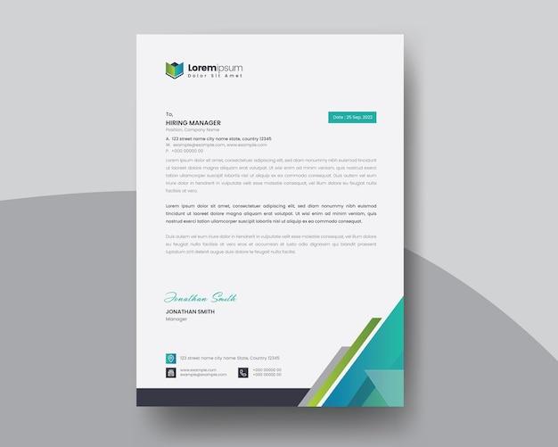 Modello di carta intestata creativo per la tua applicazione