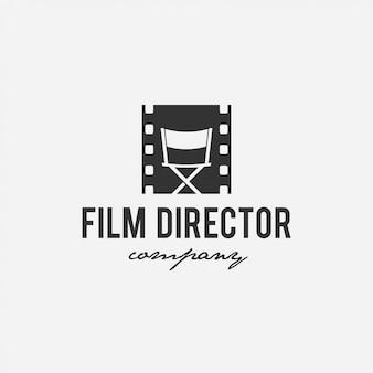 Film di design logo creativo, cinema, regista, società televisiva