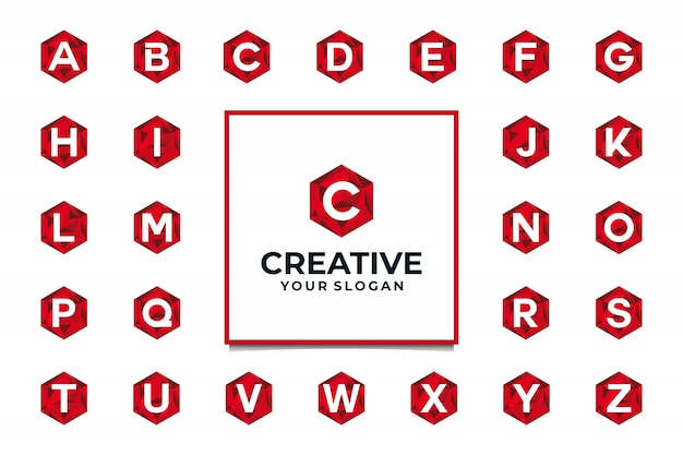 Logo creativo alfabeto iniziale con diamante concetto