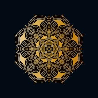 Mandala background di lusso creativo con lo stile orientale islamico arabo arabo dorato creativo del modello di arabesque