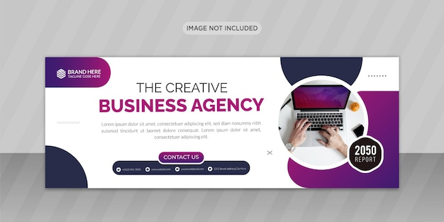 Agenzia di marketing creativo design di foto di copertina di facebook o design di banner web