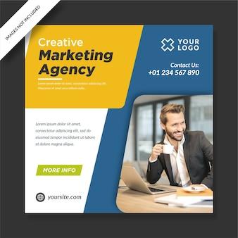 Agenzia di marketing creativa instagram post banner social media design