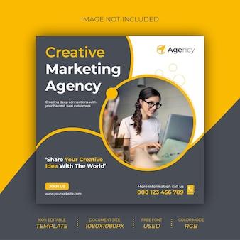 Agenzia di marketing creativo post banner design
