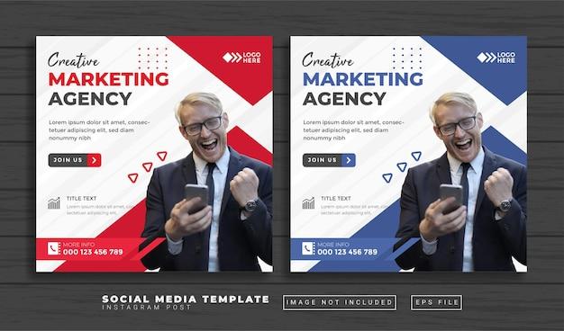 Modello di post sui social media dell'agenzia di marketing creativa