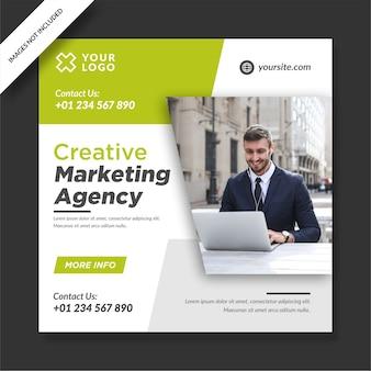 Marketing creativo instagram post banner social media design