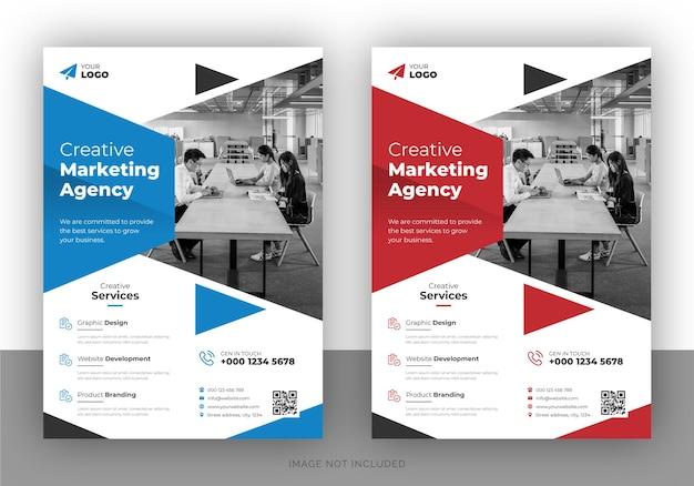 Volantino promozionale di marketing creativo e modello di copertina dell'opuscolo
