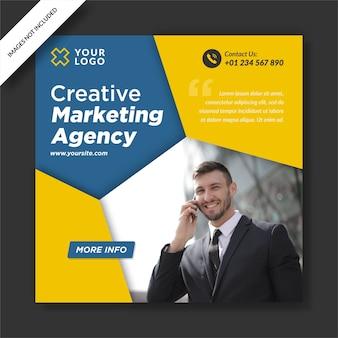 Creative media marketing instagram post banner social media design