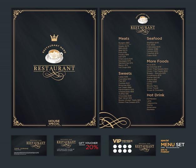 Modello di menu creativo