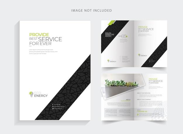 Brochure bifold creative minimal