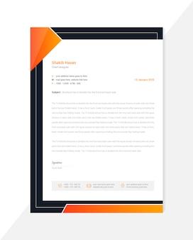 Premium design creativo di carta intestata minimal