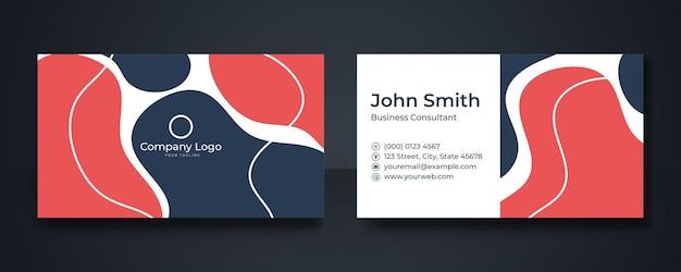 Design creativo per biglietti da visita minimale e moderno con motivi floreali, disegni al tratto, forme geometriche