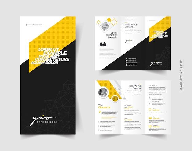 Brochure a tre ante minimale creativa