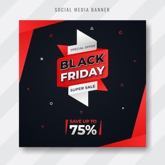 Design creativo e moderno per i social media del black friday post