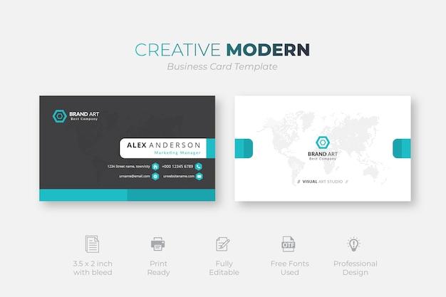 Modello di biglietto da visita moderno creativo