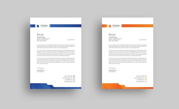 Modello di progettazione di carta intestata aziendale moderna creativa