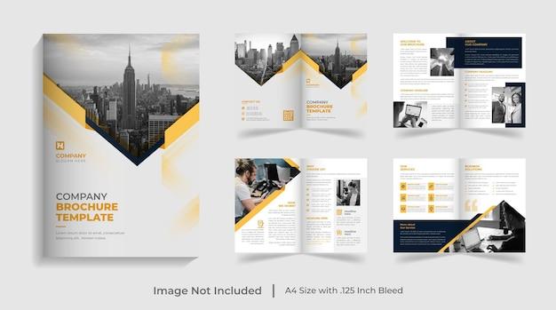 Profilo aziendale aziendale moderno creativo e modello di brochure multipagina bifold