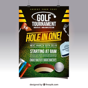 Manifesto di torneo di golf moderno creativo