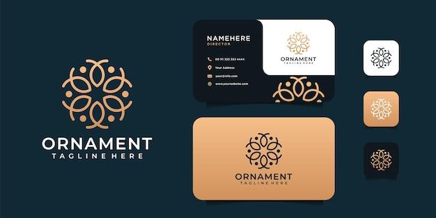 Creativo moderno ornamento di lusso bellezza logo e ispirazione per il design di biglietti da visita.